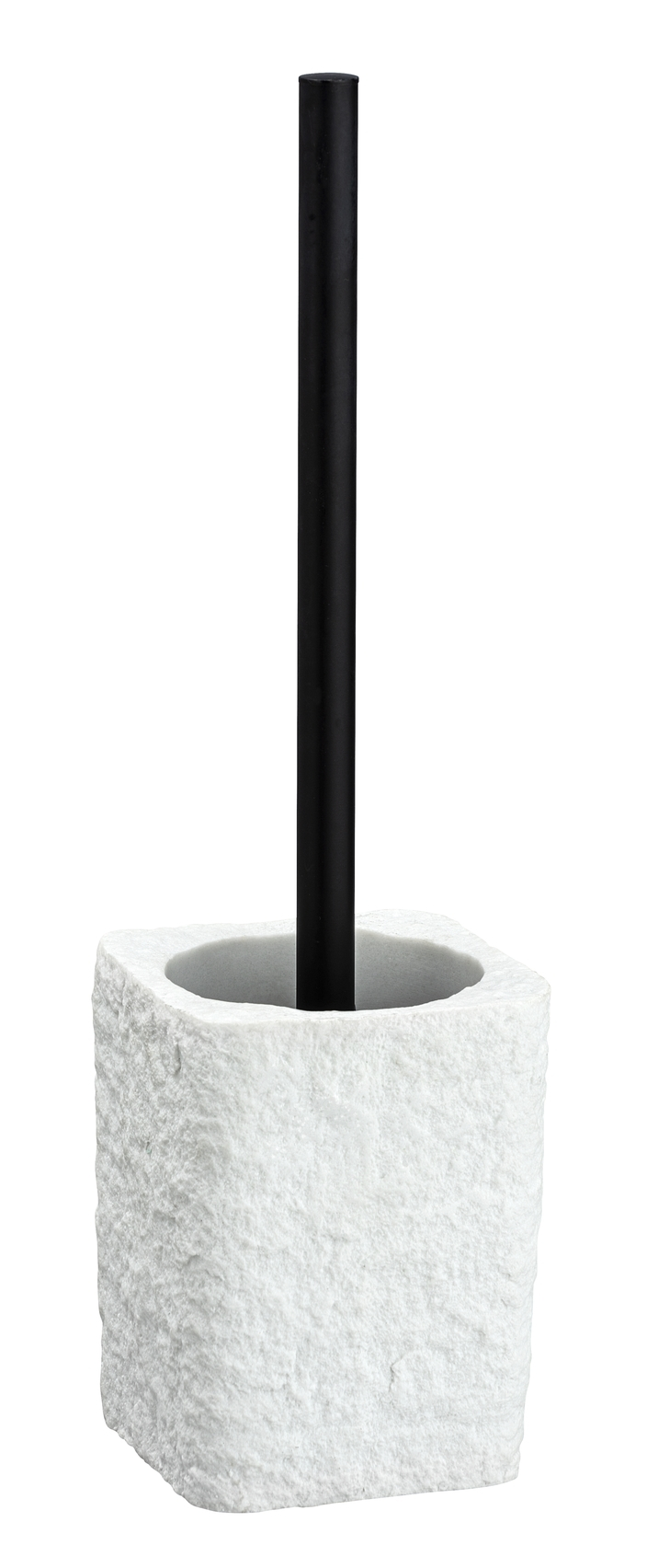 Perie de toaleta cu suport din polirasina, Villata Alb, L11,2xl10xH37 cm imagine