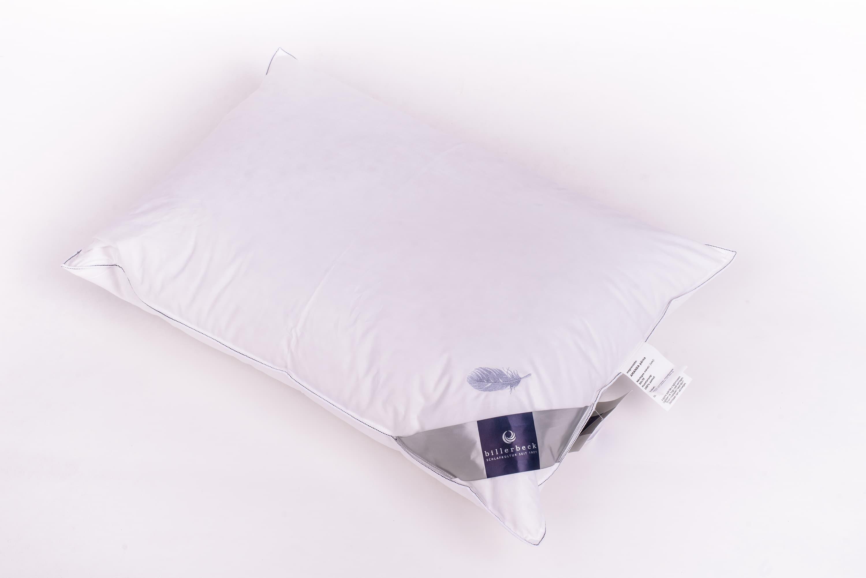 Perna bumbac cu umplutura din pene si puf de gasca, Amanda Alb, 50 x 70 cm imagine
