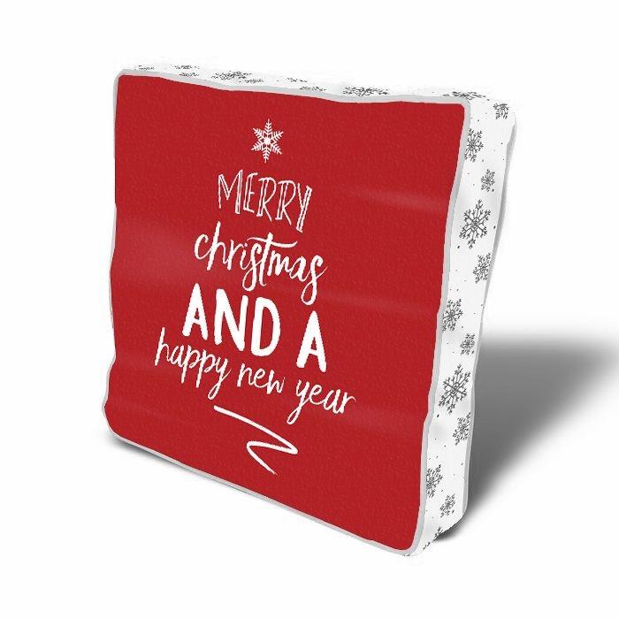 Perna de sezut decorativa Christmas & New Year Rosu / Alb, L43xl43 cm