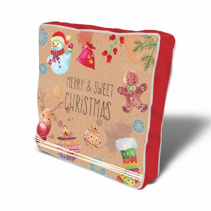 Perna de sezut decorativa Christmas Symbols Multicolor, L43xl43 cm