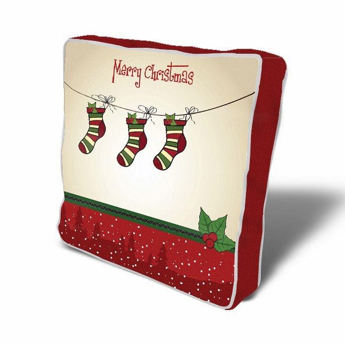 Perna de sezut decorativa Santa's Presents Multicolor, L43xl43 cm poza