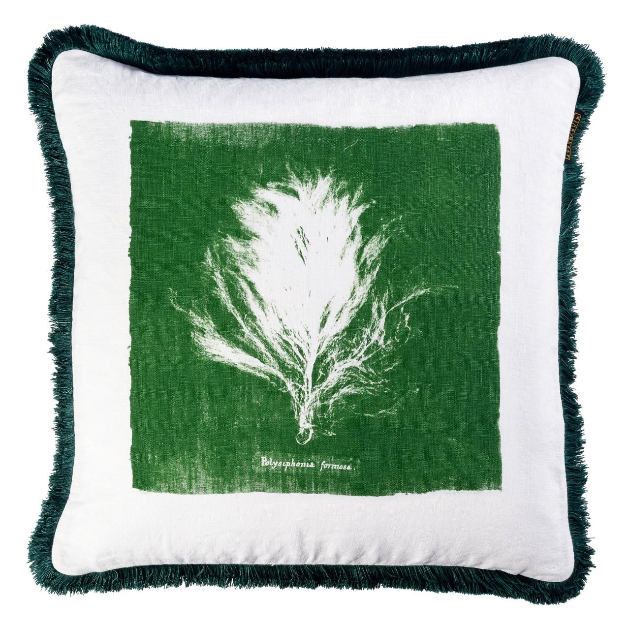 Perna decorativa Algae II Verde / Alb, L50xl50 cm imagine