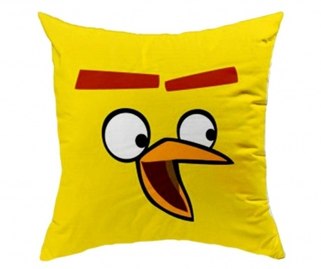 Perna decorativa Angry Birds AB016 Galben, L40xl40 cm imagine 2021