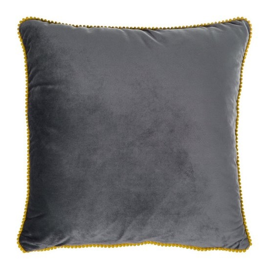 Set 2 perne decorative cu huse detasabile Claris Velvet Gri, 45 x 45 cm imagine