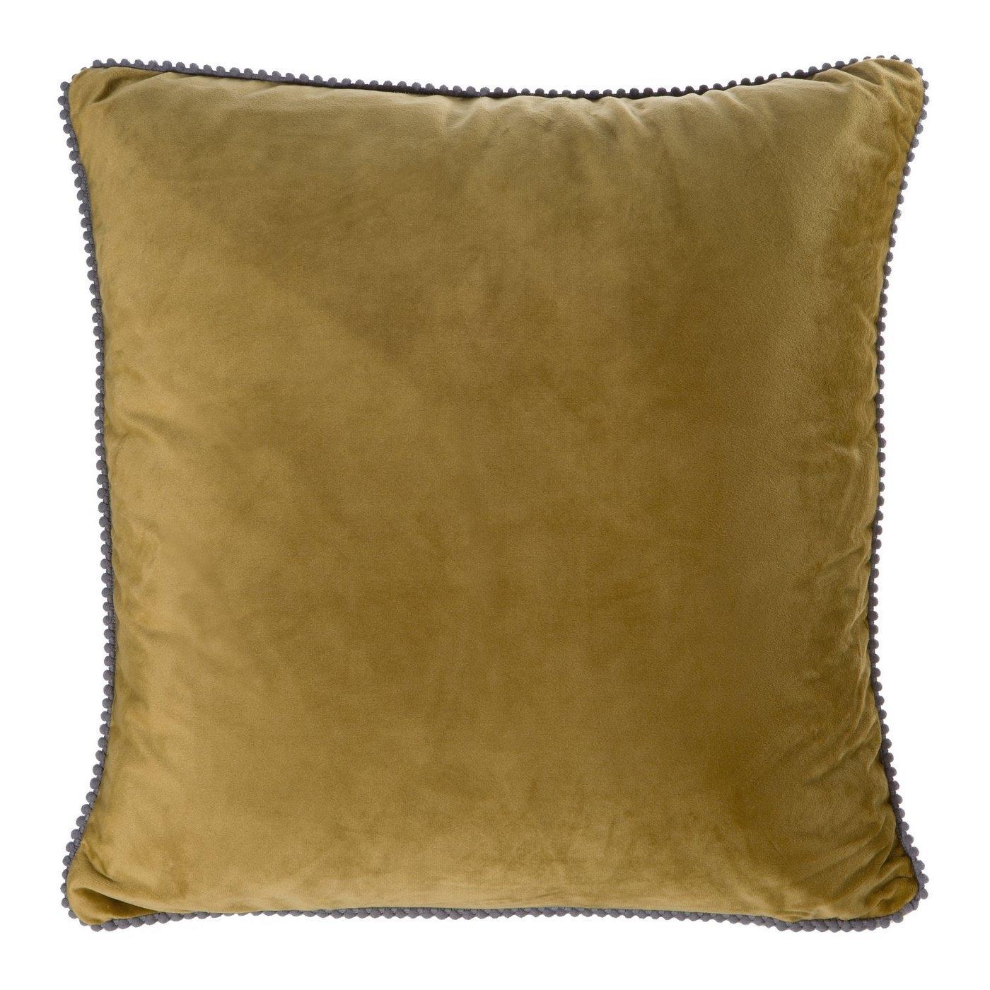 Set 2 perne decorative cu huse detasabile Claris Velvet Verde Olive, 45 x 45 cm imagine