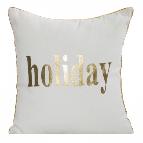 Perna decorativa cu husa detasabila Holiday B Alb, 45 x 45 cm poza