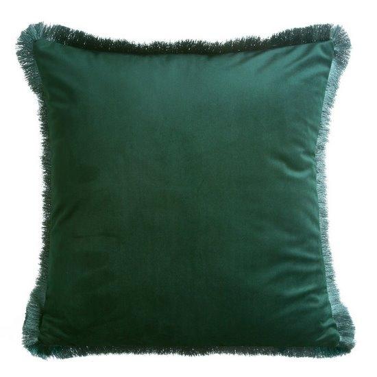 Perna decorativa cu husa detasabila Leticia Velvet Verde Inchis, 45 x 45 cm imagine