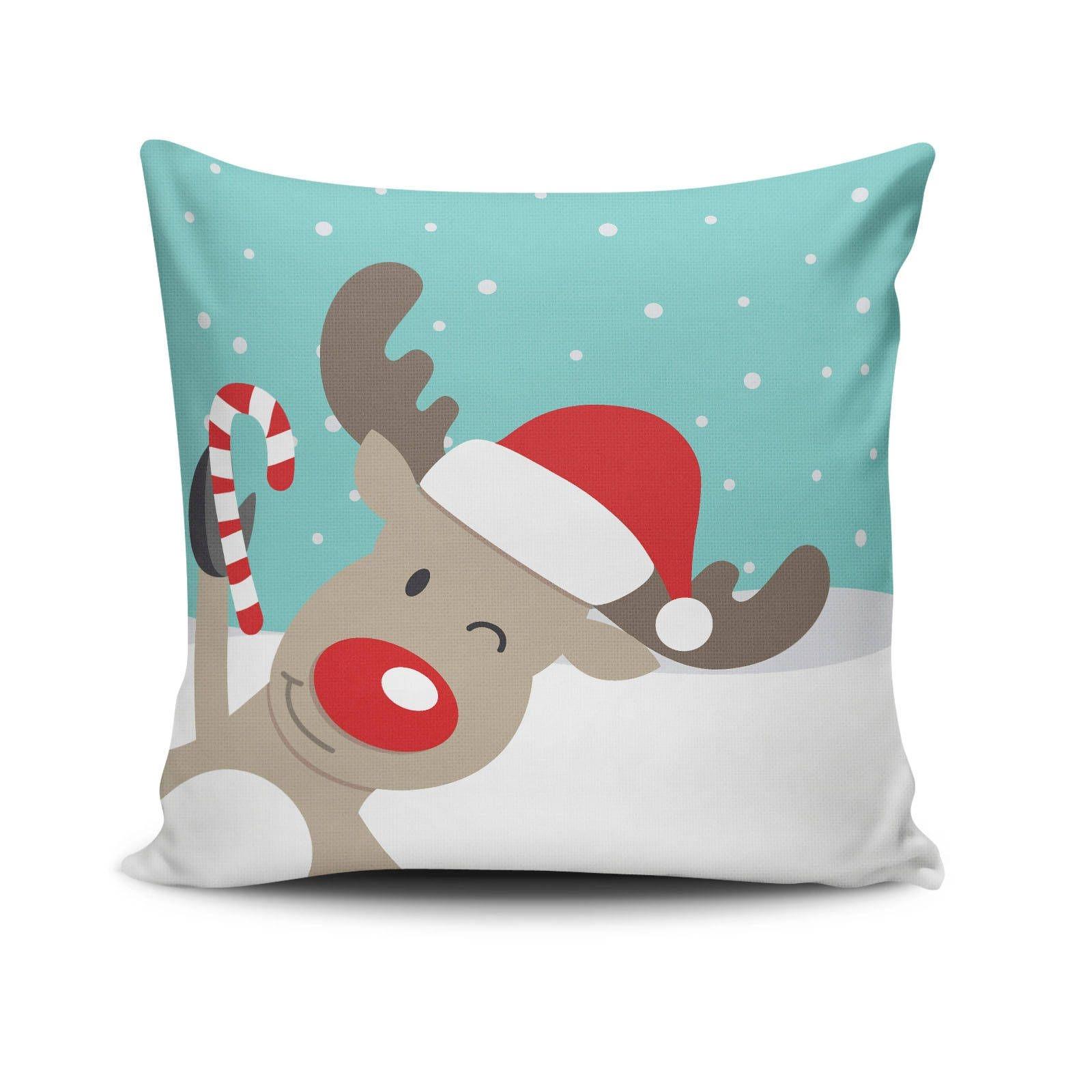 Perna decorativa Little Reindeer Multicolor, L43xl43 cm