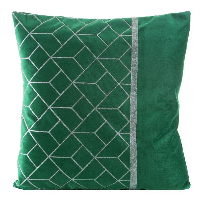 Fata perna decorativa Milagros Velvet Verde, 45 x 45 cm somproduct.ro