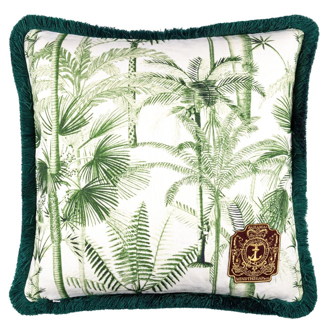 Perna decorativa Palmera Cubana Verde / Alb, L50xl50 cm poza