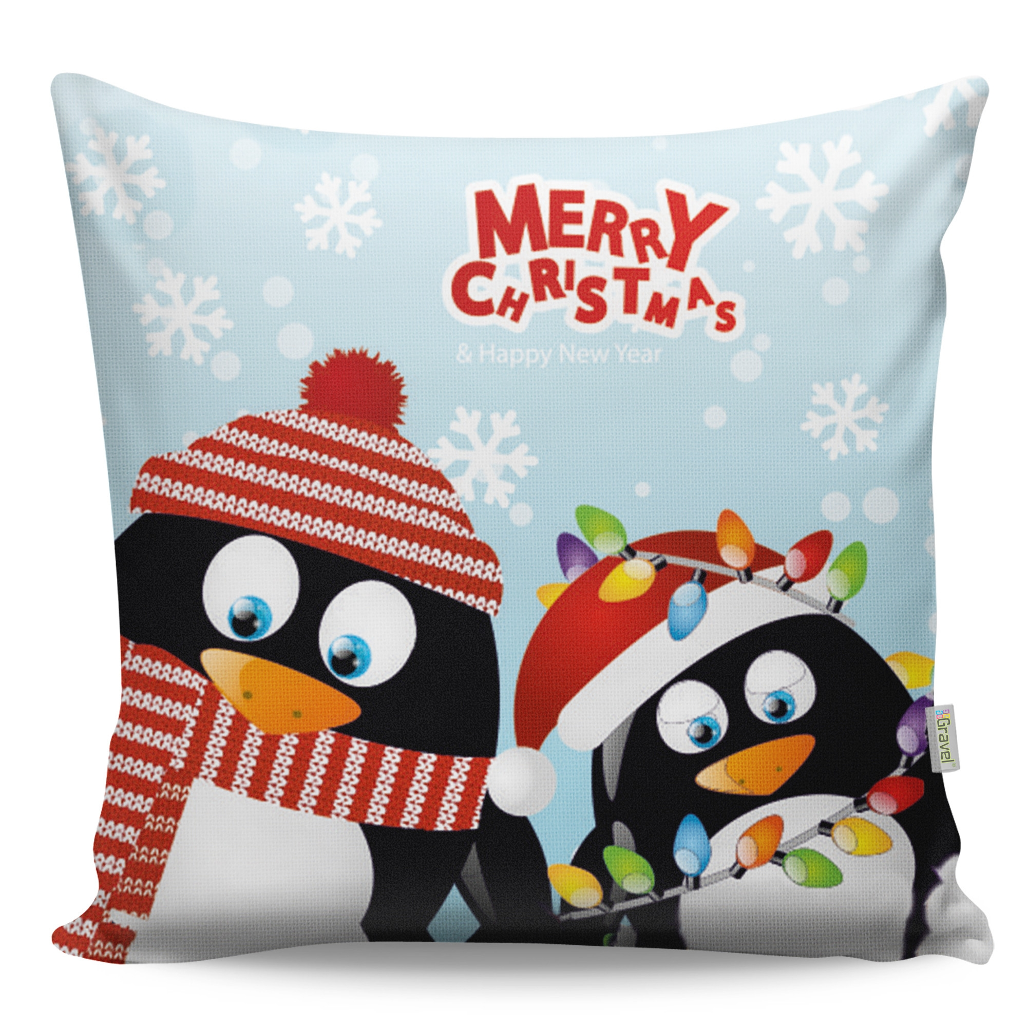 Perna decorativa Penguin Multicolor, L43xl43 cm