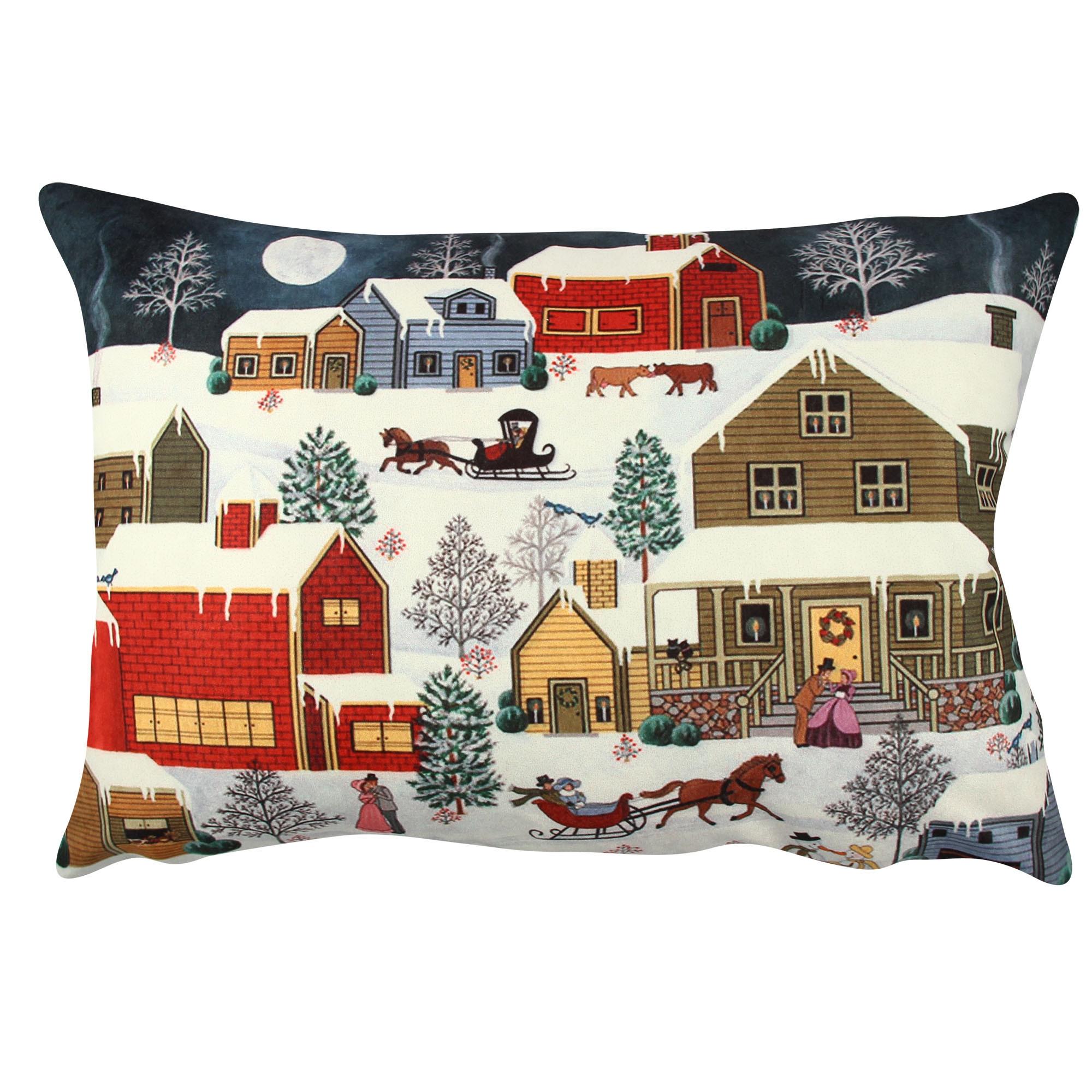 Perna decorativa Winter Village Multicolor, L48xl33 cm