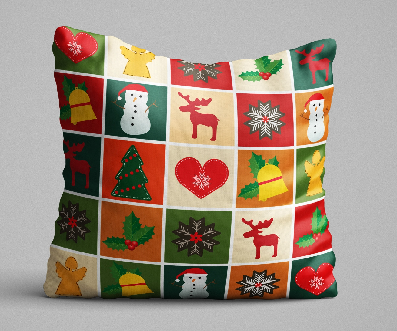 Perna decorativa X-mas Spirit Multicolor, L43xl43 cm