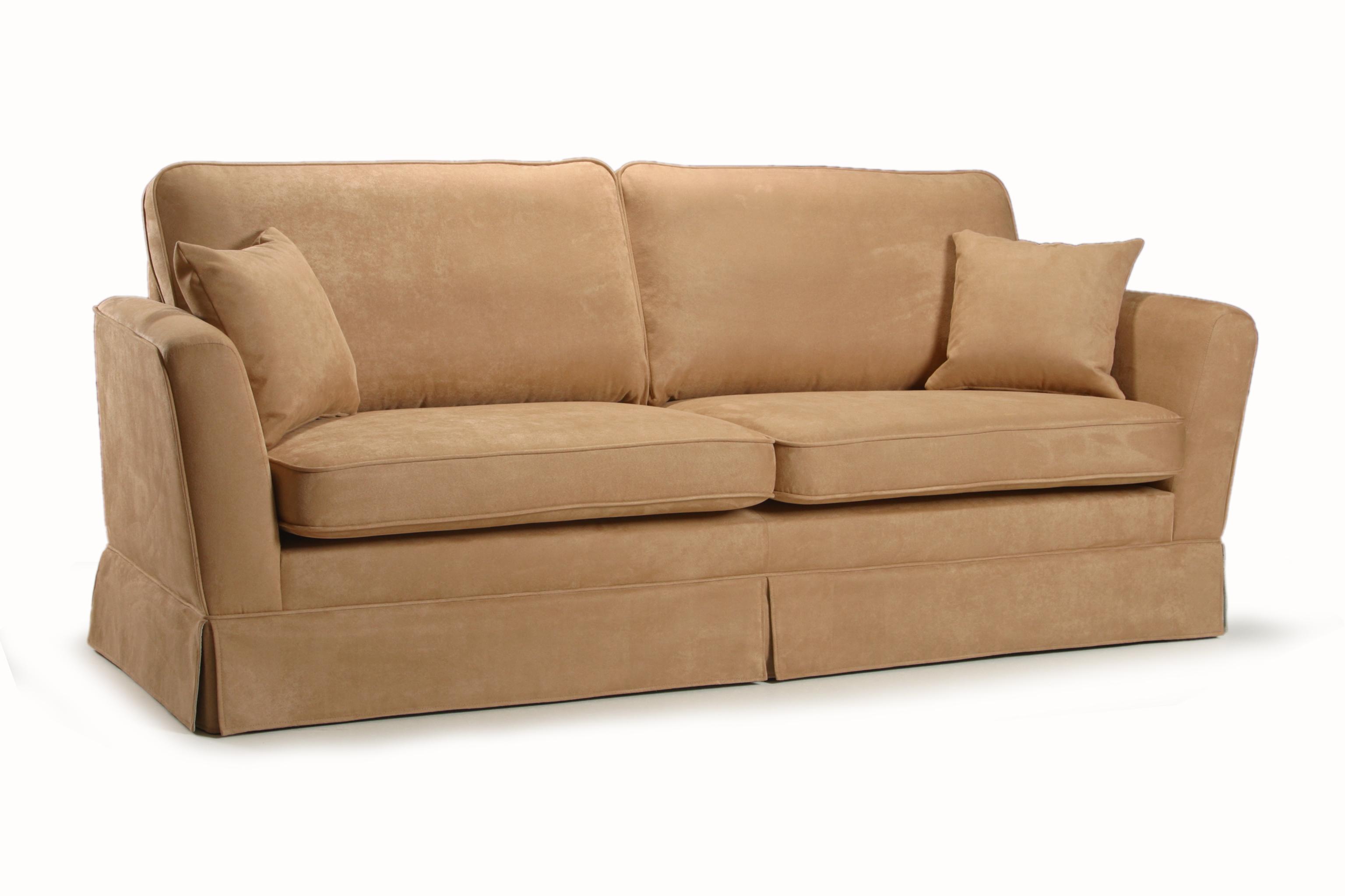 Canapea fixa 3 locuri tapitata cu stofa Peter
