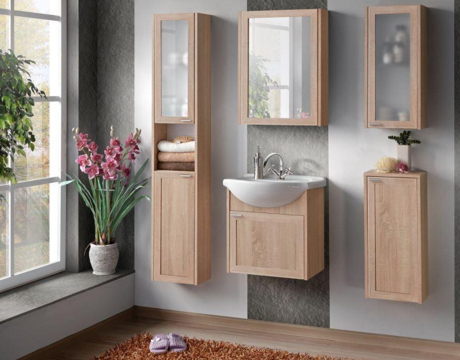 Set Mobilier pentru baie, 6 piese, Piano poza