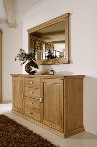 Oglinda decorativa din lemn de stejar Piano