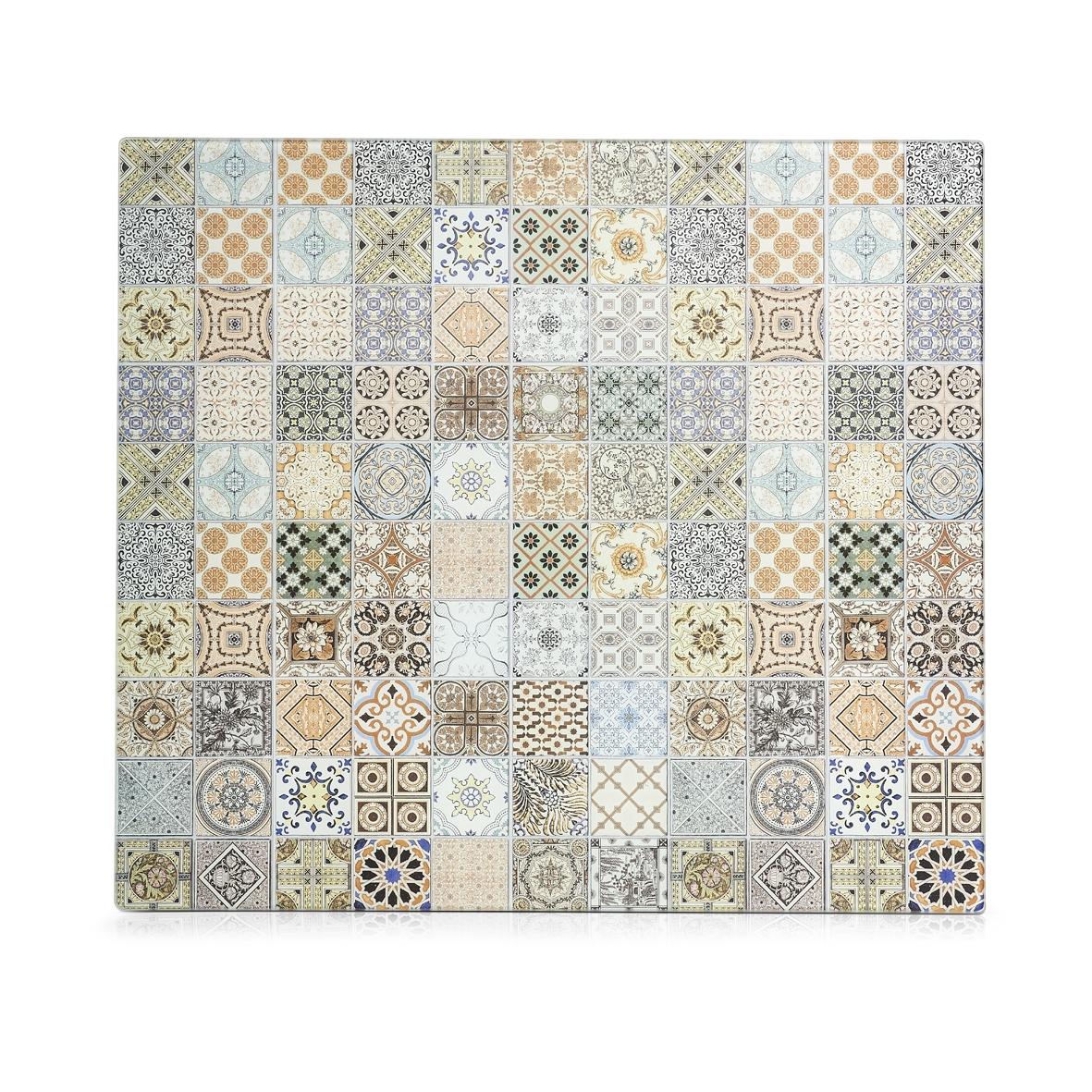 Placa din sticla protectie perete/plita, Mosaic Multicolor, L56xl50 cm