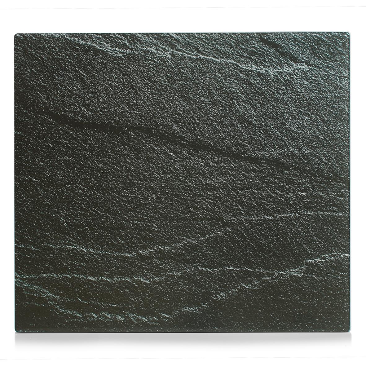 Placa din sticla protectie perete/plita, Anthracite Slate, L56xl50 cm poza