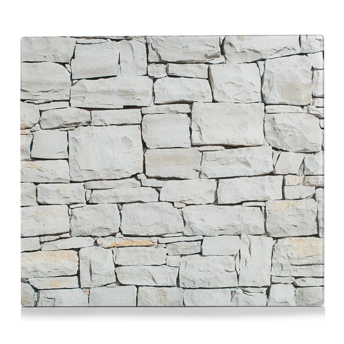 Placa din sticla protectie perete/plita, Grey Stone, L56xl50 cm imagine