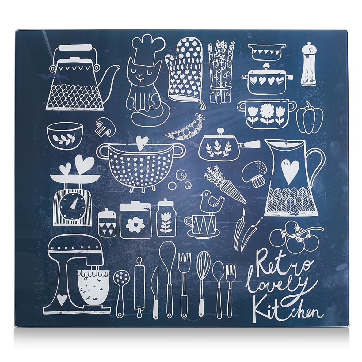 Placa din sticla protectie perete/plita, Lovely Kitchen, L56xl50 cm