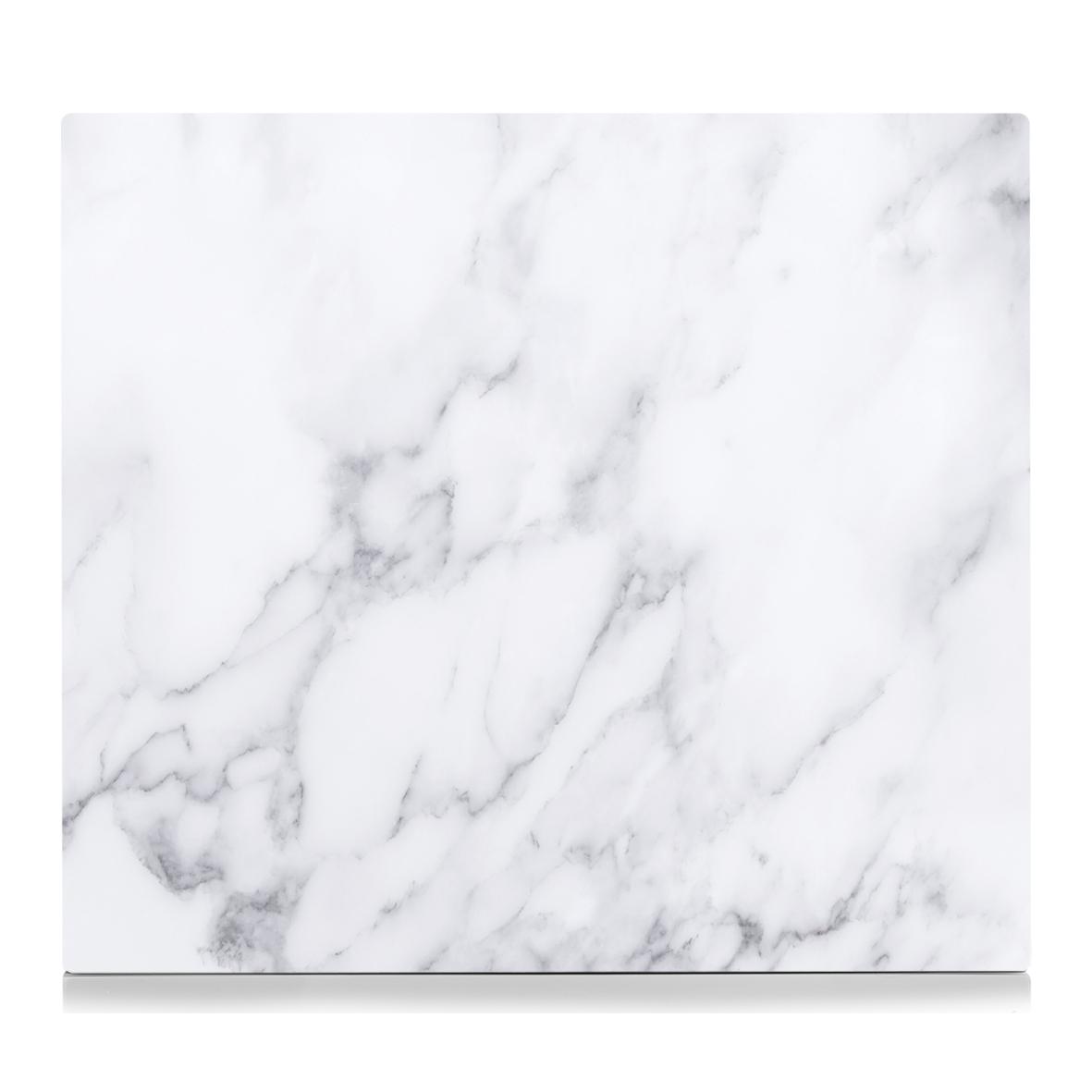 Placa din sticla protectie perete/plita, White Marble, L56xl50 cm poza