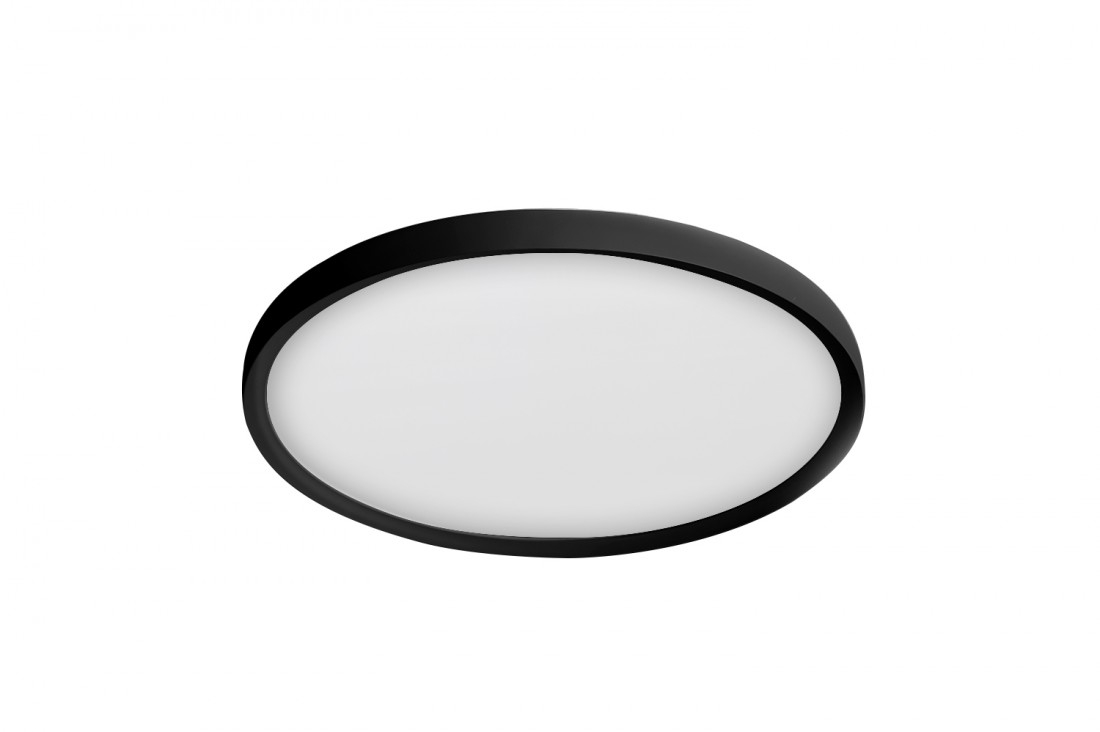 Plafoniera Thin Smart Round Negru Imagine