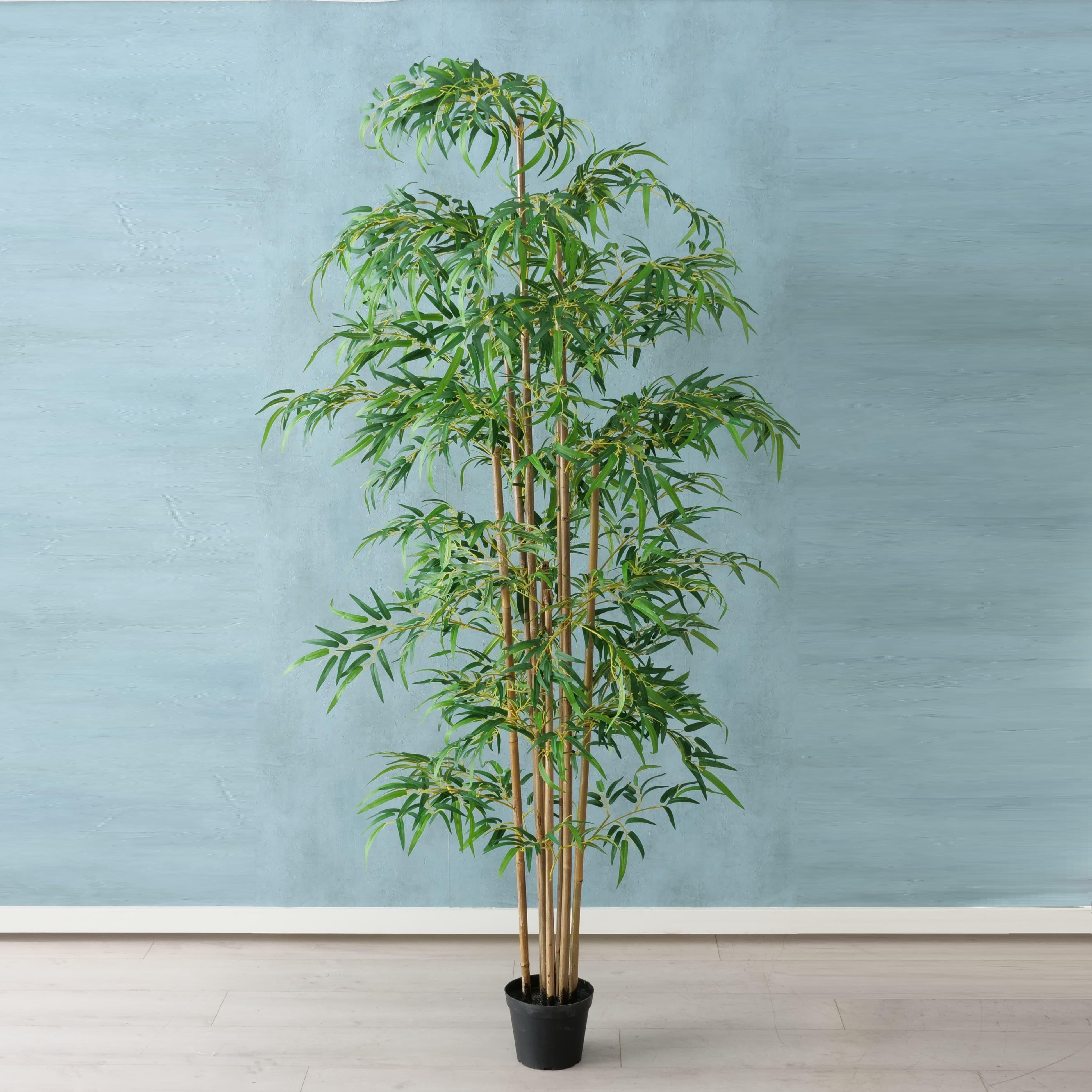 Planta Artificiala Ghiveci Bamboo Verde