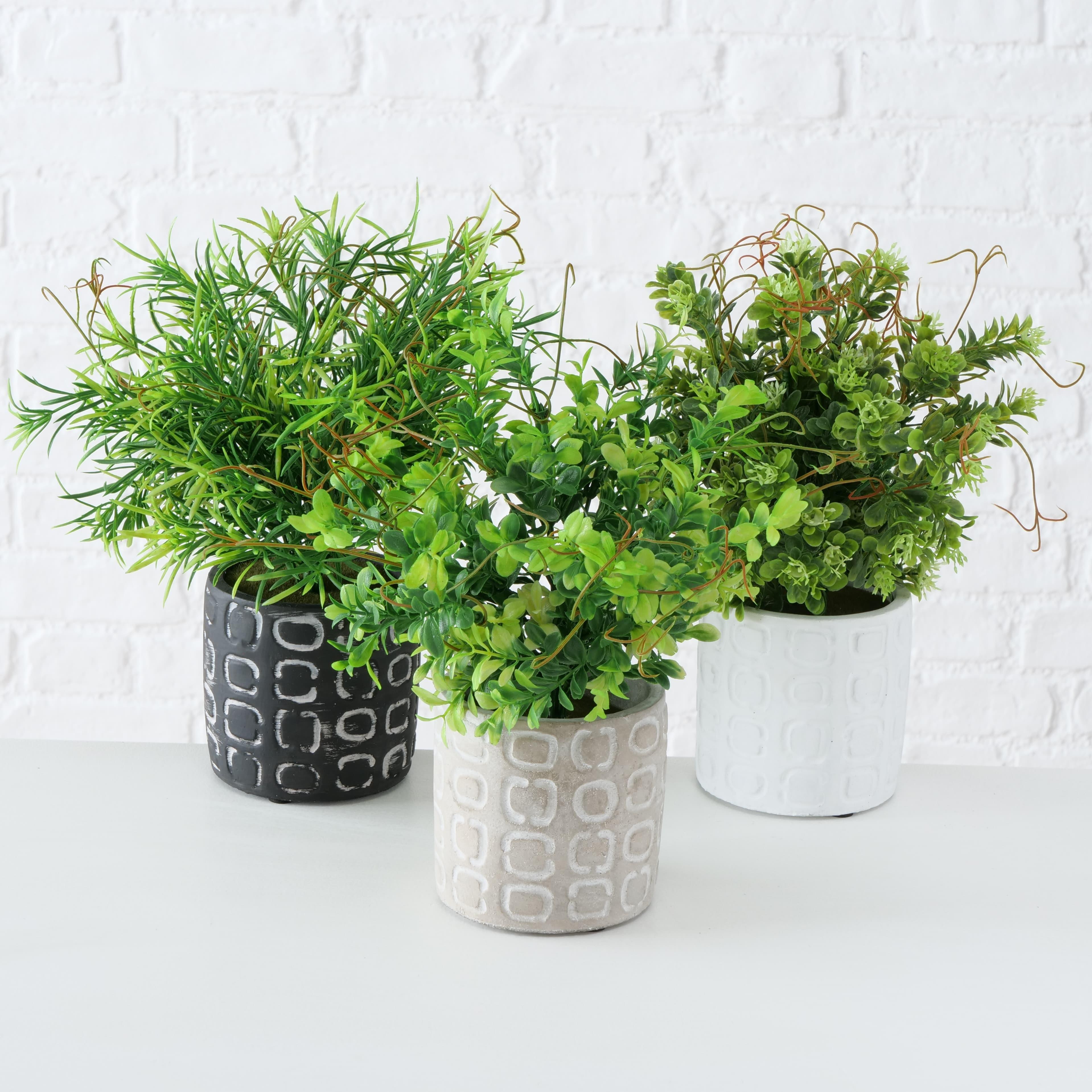 Planta artificiala in ghiveci Boxwood Multicolor, Modele Asortate, H29 cm
