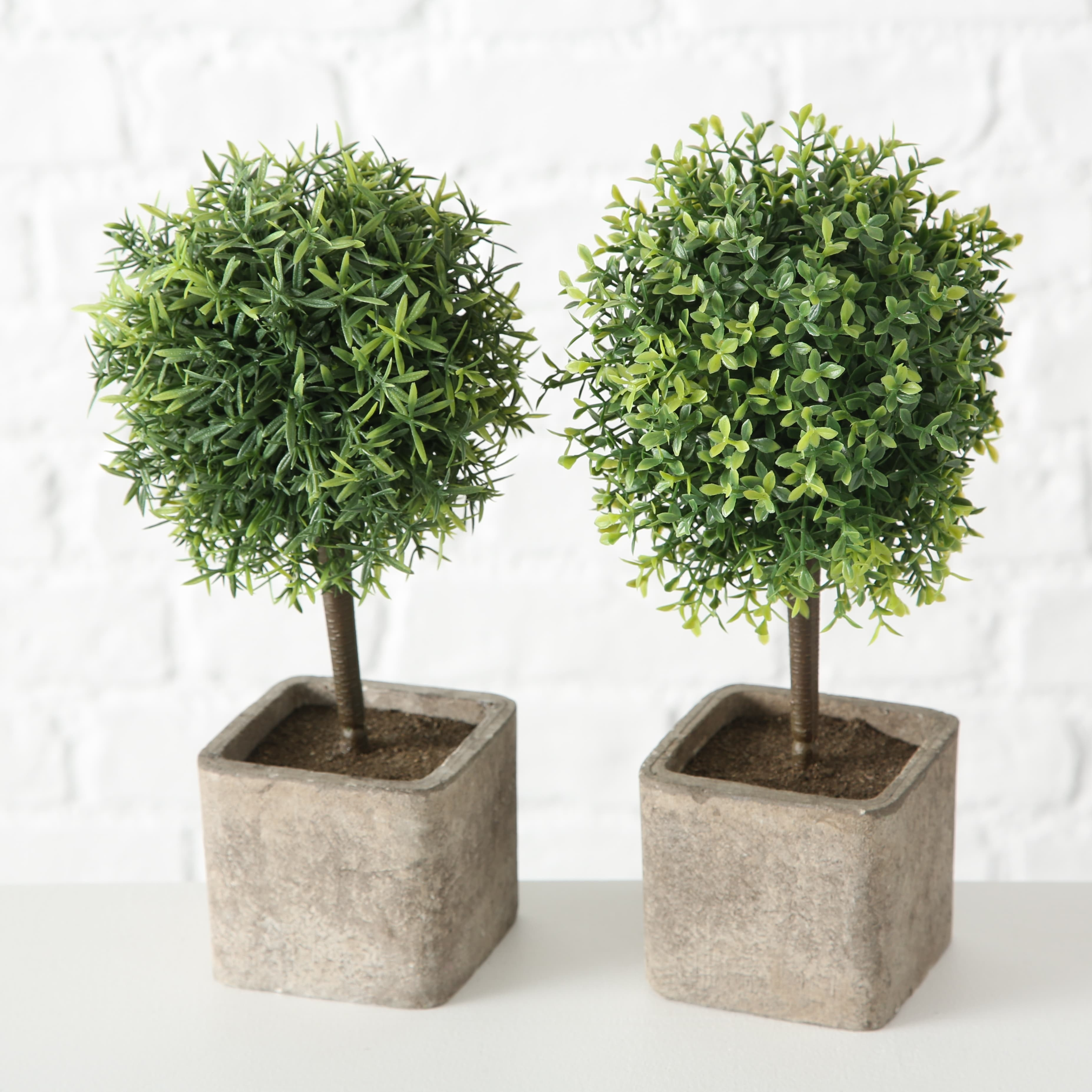 Planta artificiala in ghiveci Indoor Tree Verde / Gri, Modele Asortate, H26 cm