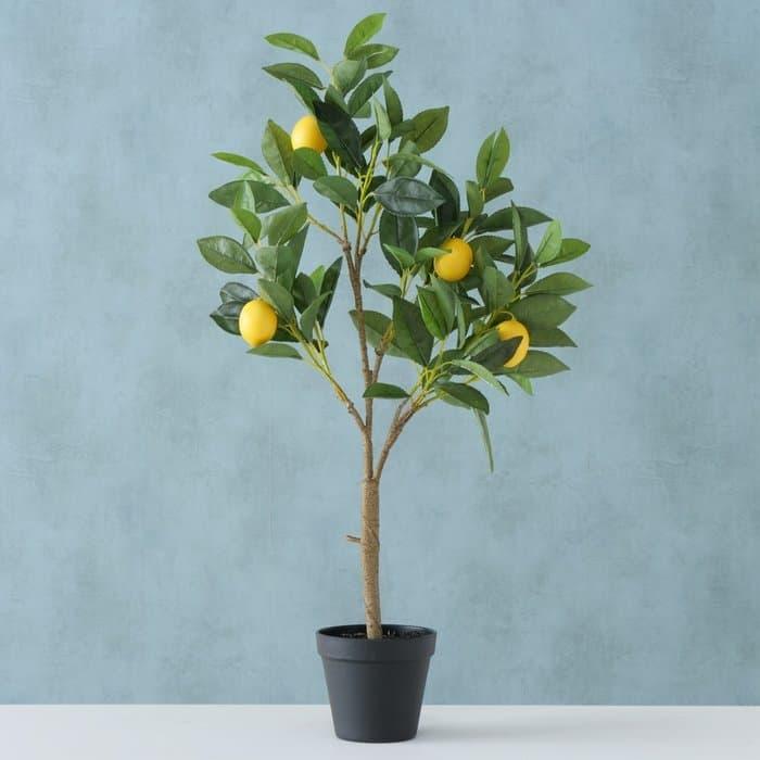 Poza Planta artificiala in ghiveci Lemon Galben / Verde, H73 cm