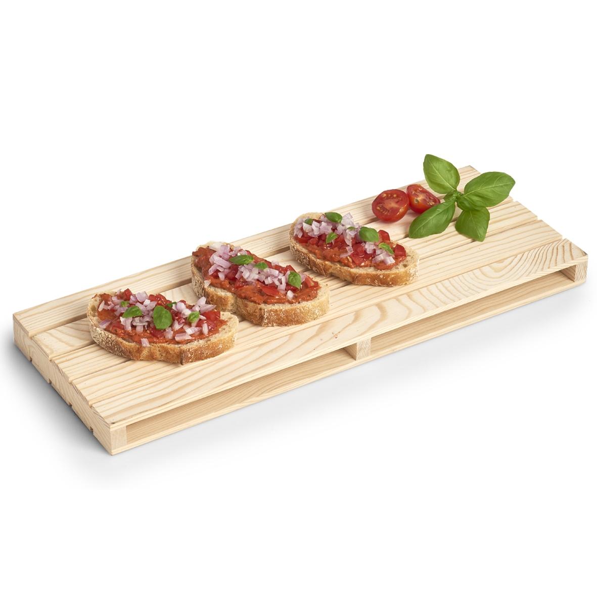 Platou de servire din lemn de pin Palette Natural, L40xl15xH2,5 cm poza