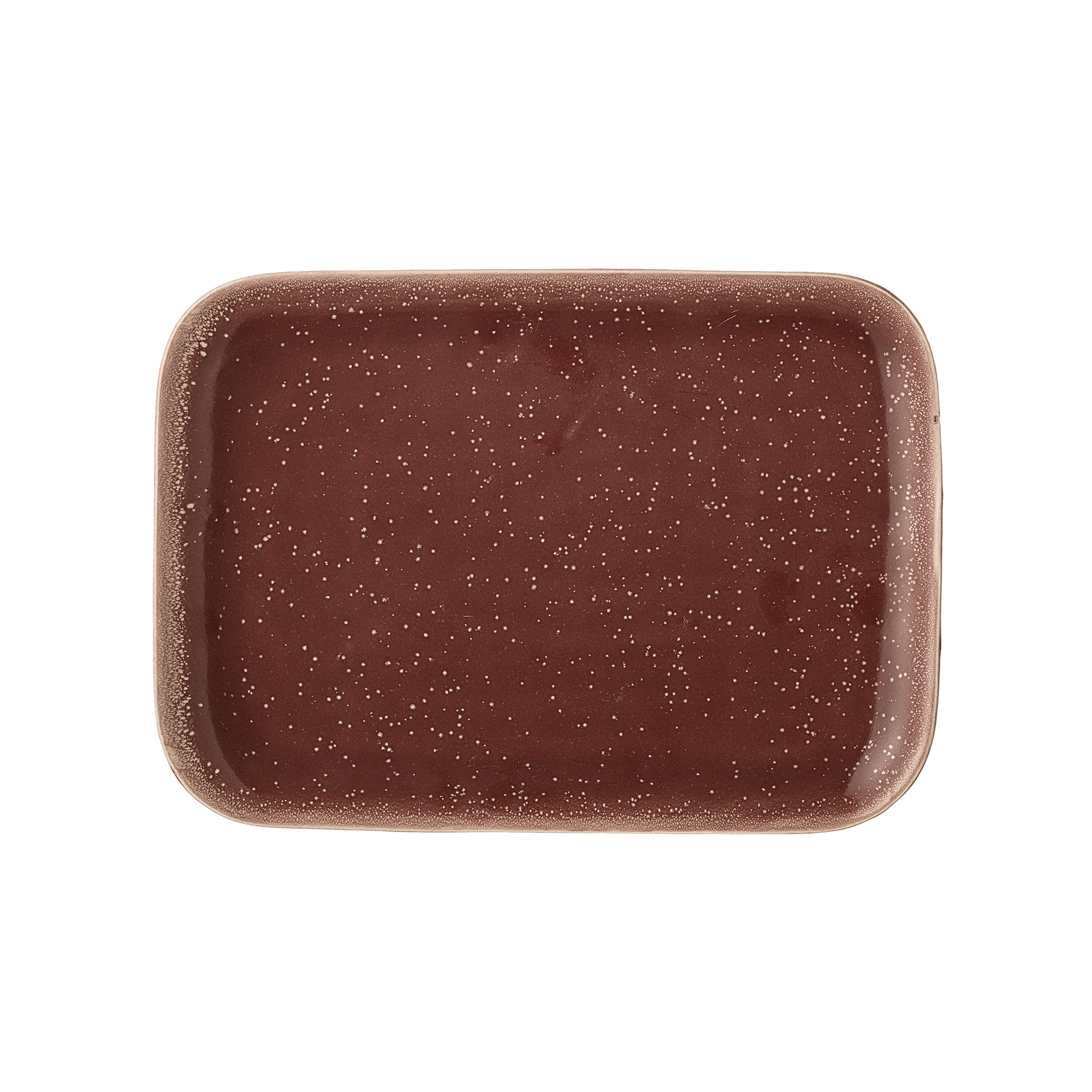 Platou Joelle din ceramica Red, l18xL25 cm