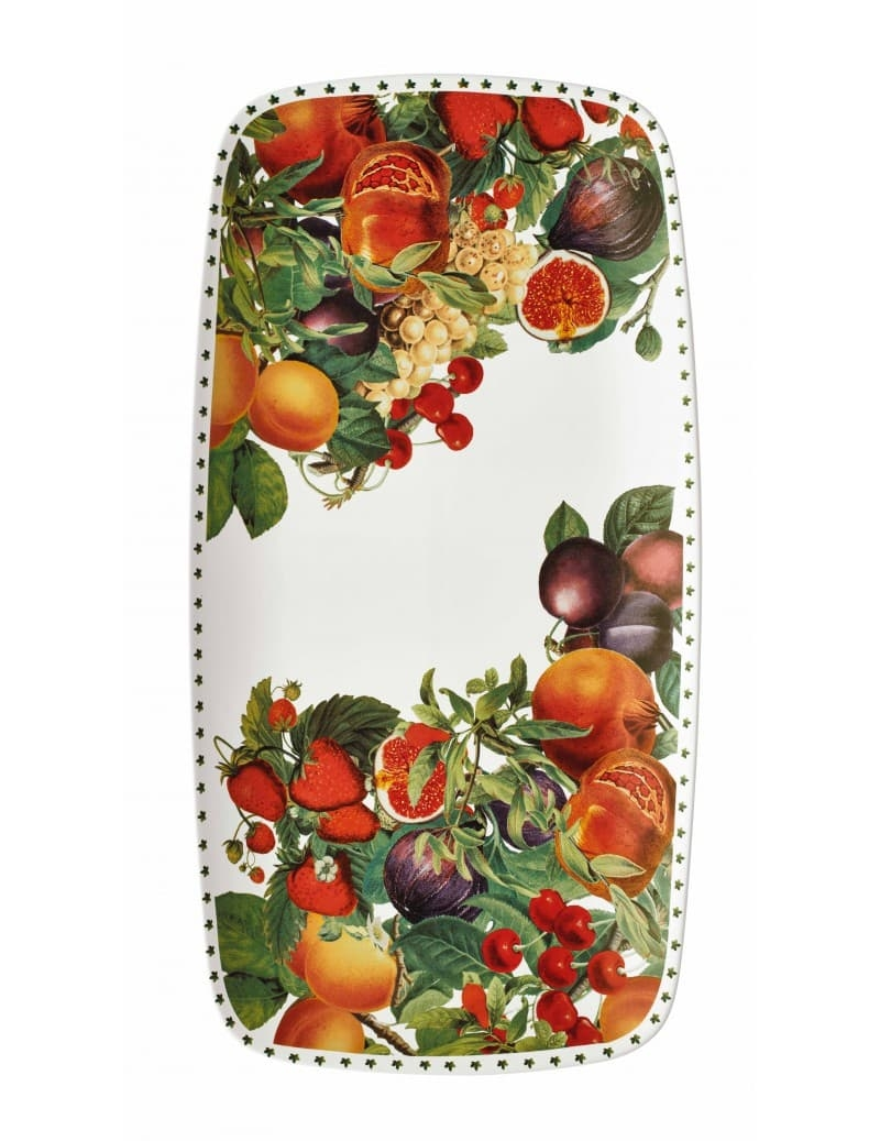 Platou pentru servire din ceramica, Le Primizie Alb / Multicolor, L41,5xl22 cm somproduct.ro