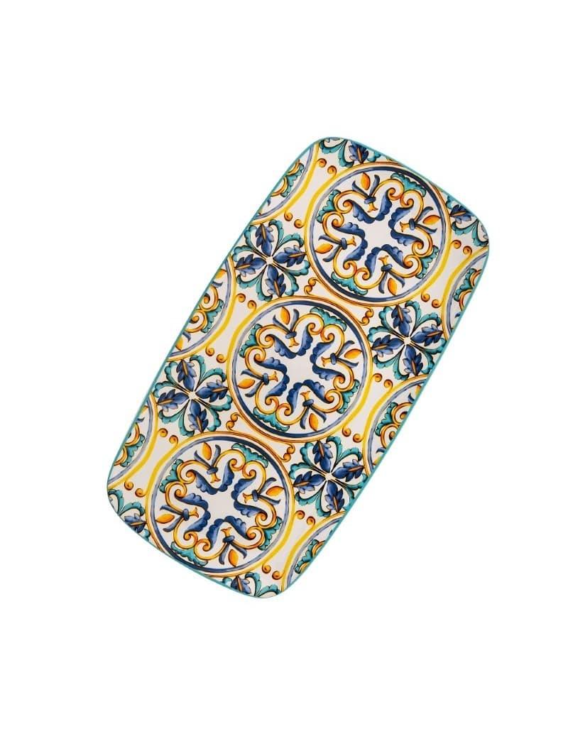Platou pentru servire din ceramica, Medicea Multicolor, L41,5xl22 cm somproduct.ro