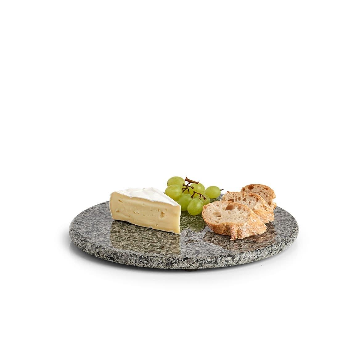 Platou servire din granit, Modern Gri / Negru, Ø25 cm poza