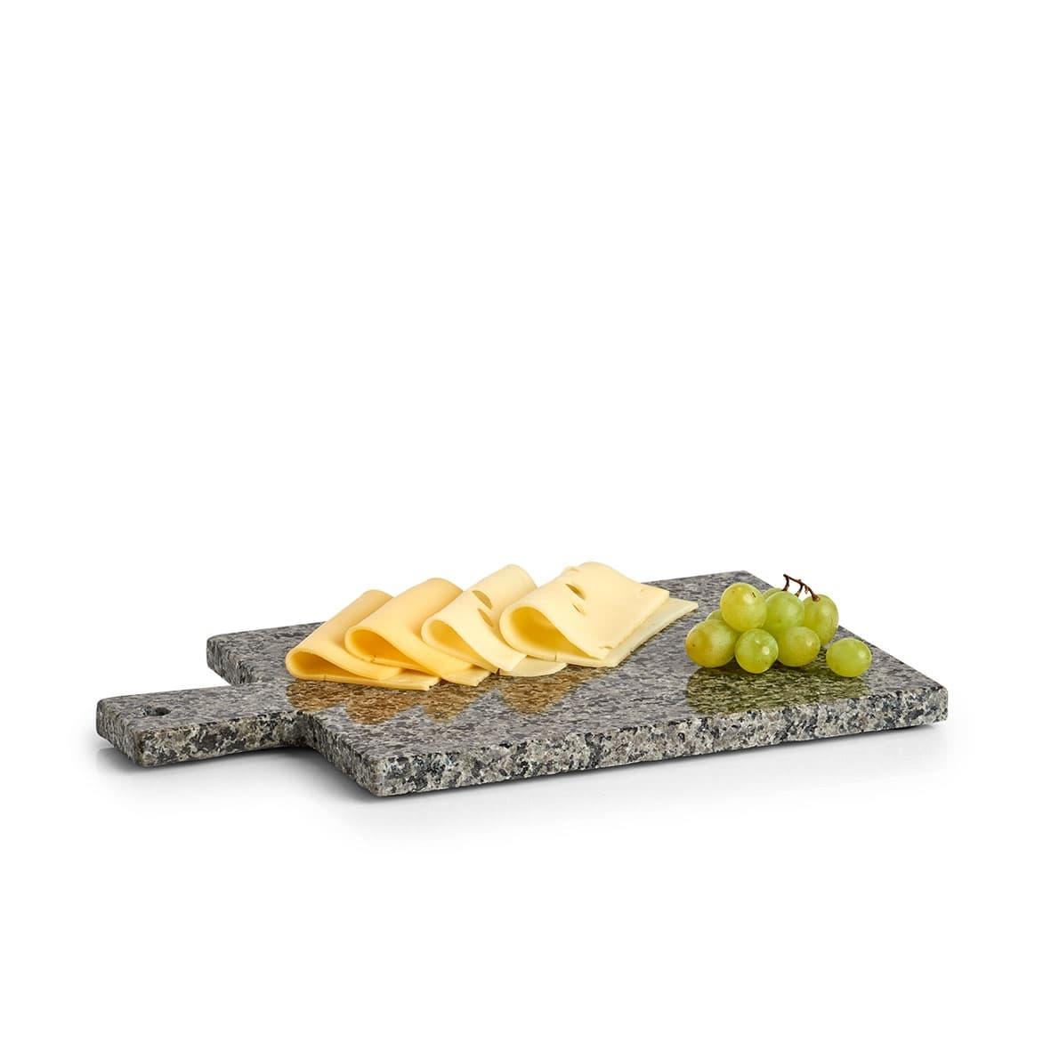 Platou servire din granit, Modern Square Gri / Negru, L30xl18xH1 cm poza