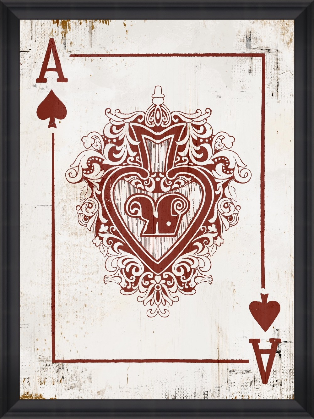 Tablou Framed Art Play Cards III din categoria Tablouri Inramate