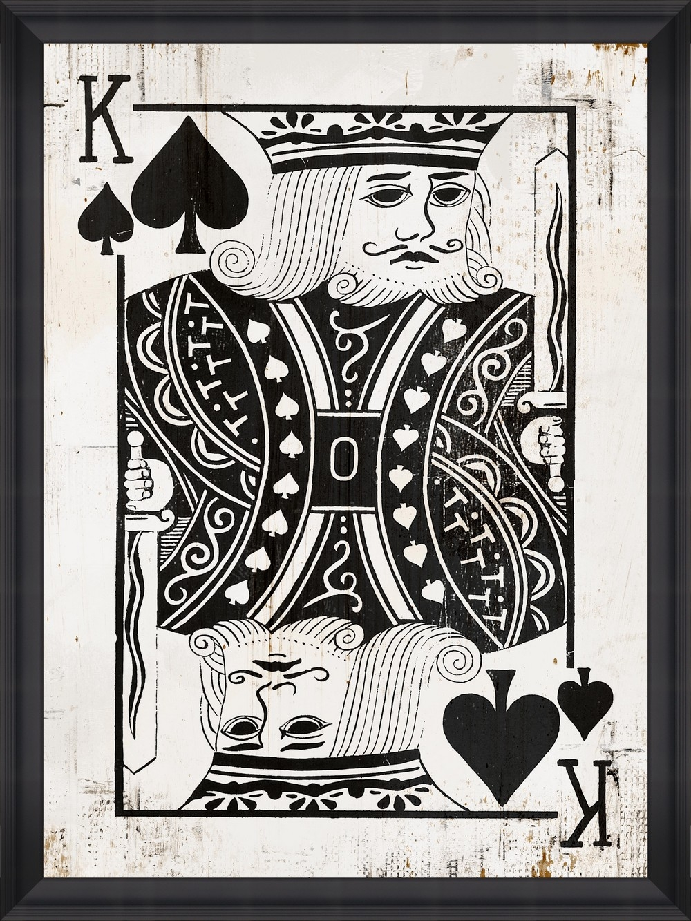 Tablou Framed Art Play Cards IV din categoria Tablouri Inramate
