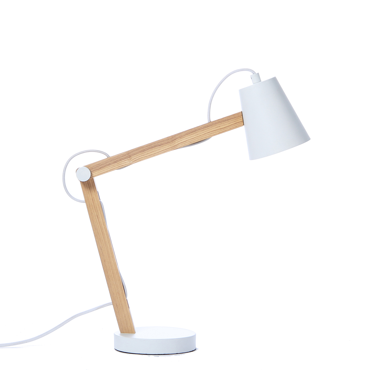 Lampa de birou Play White Matt / Nature