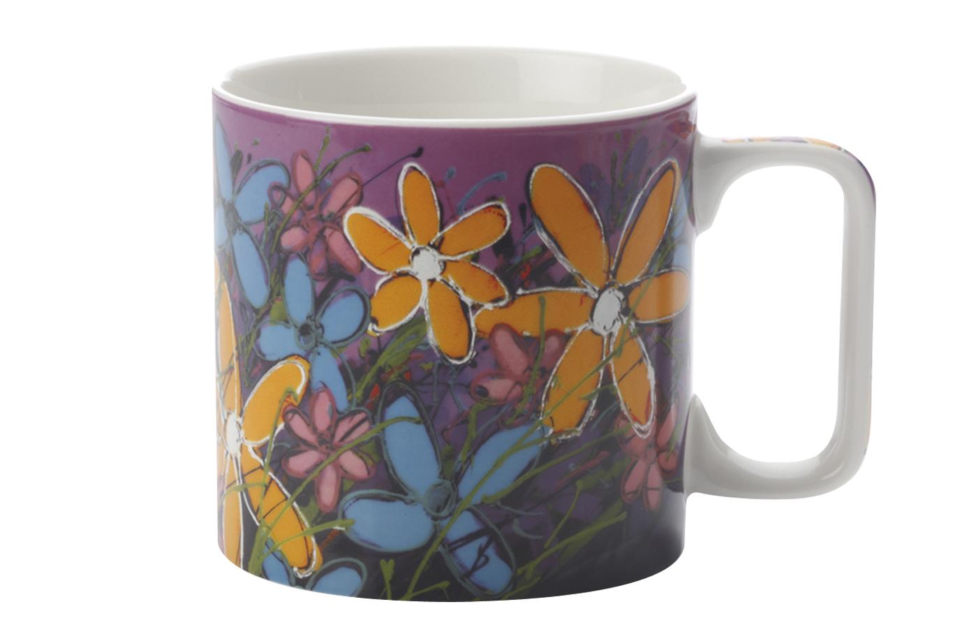 Cana Yellow Tangled Gerberas, Mugs, 400 ml
