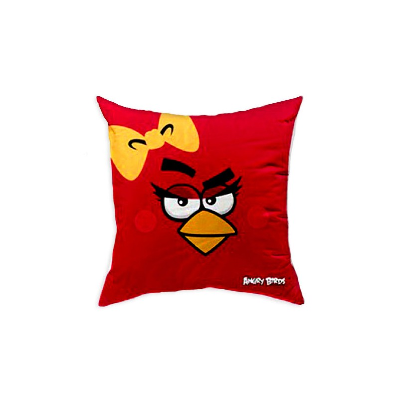 Perna decorativa Angry Birds AB016 Pretty Bird Red, L40xl40 cm