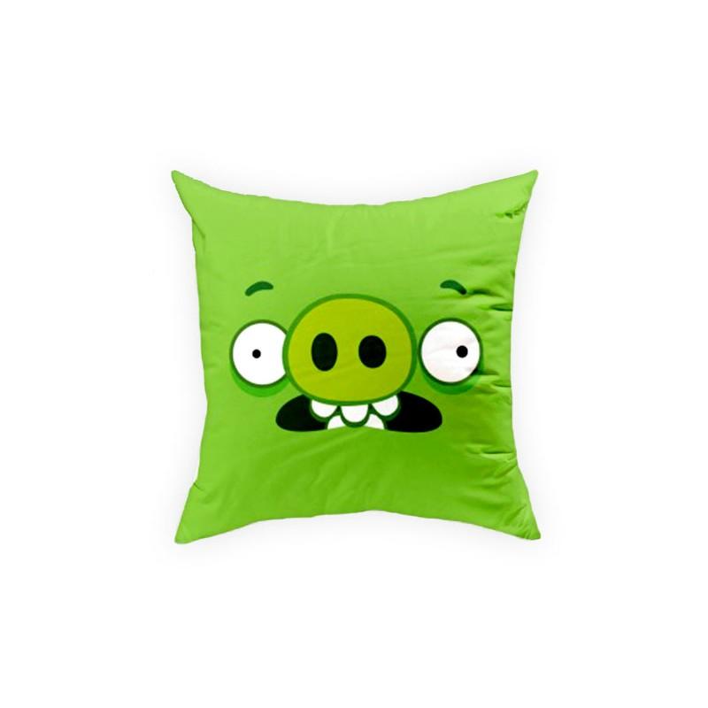 Perna decorativa Angry Birds AB016 Green, L40xl40 cm imagine