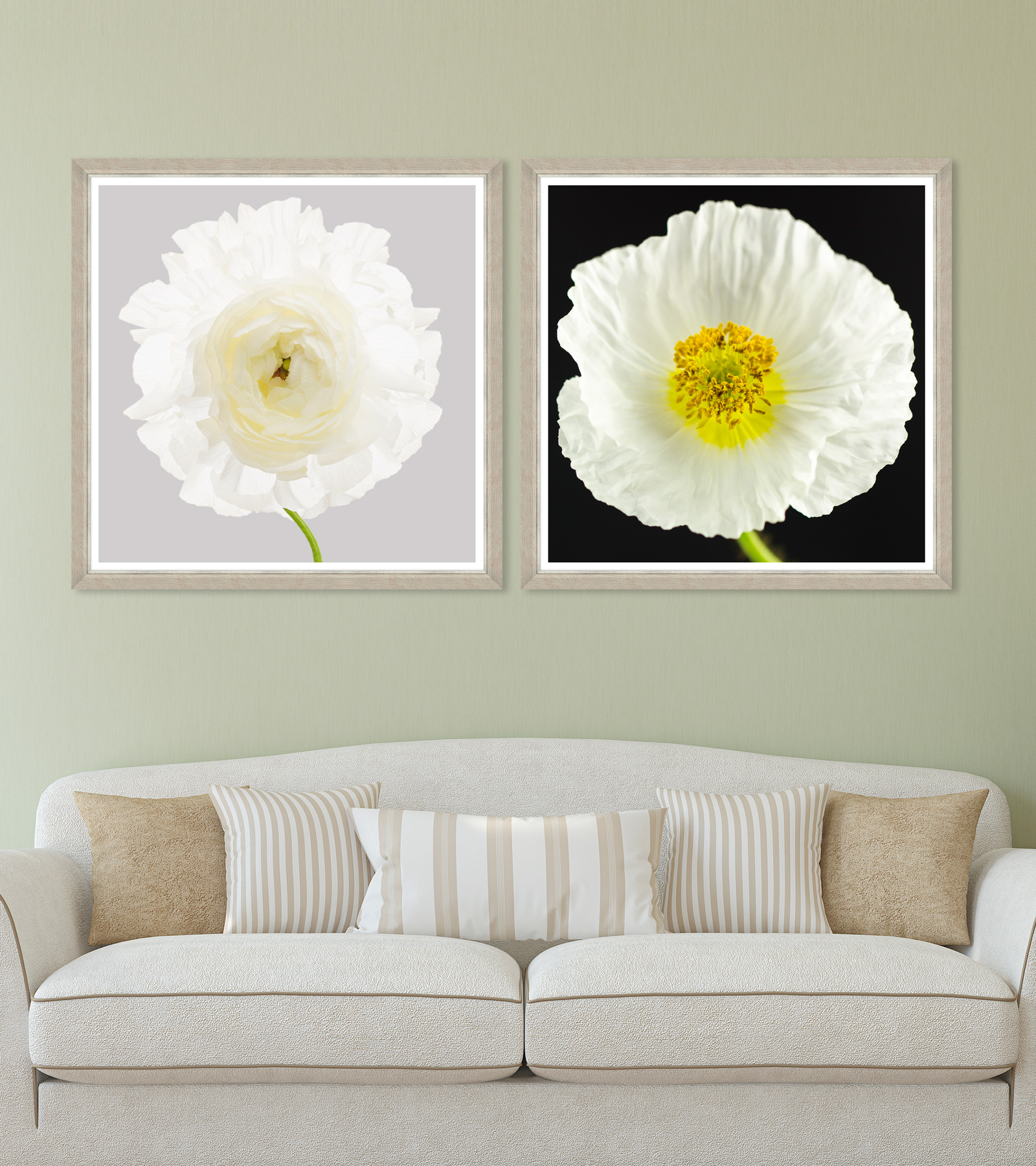 Tablou 2 piese Framed Art Poppy & Ranunculus