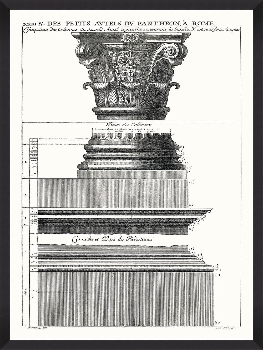 Tablou Framed Art Portique Du Pantheon II