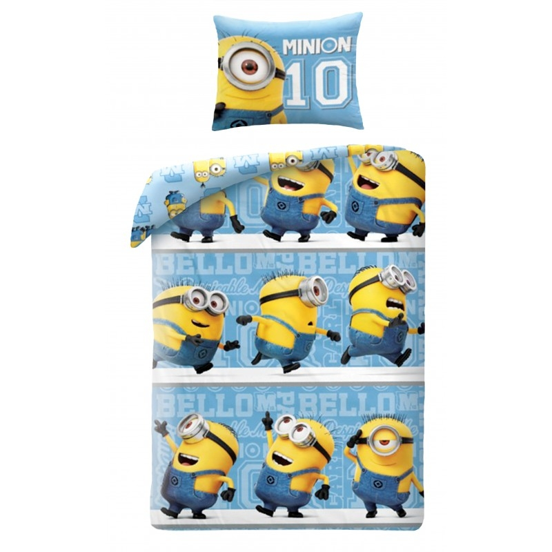 Lenjerie de pat copii Cotton Minions UDM-033BL-200 x 140 cm