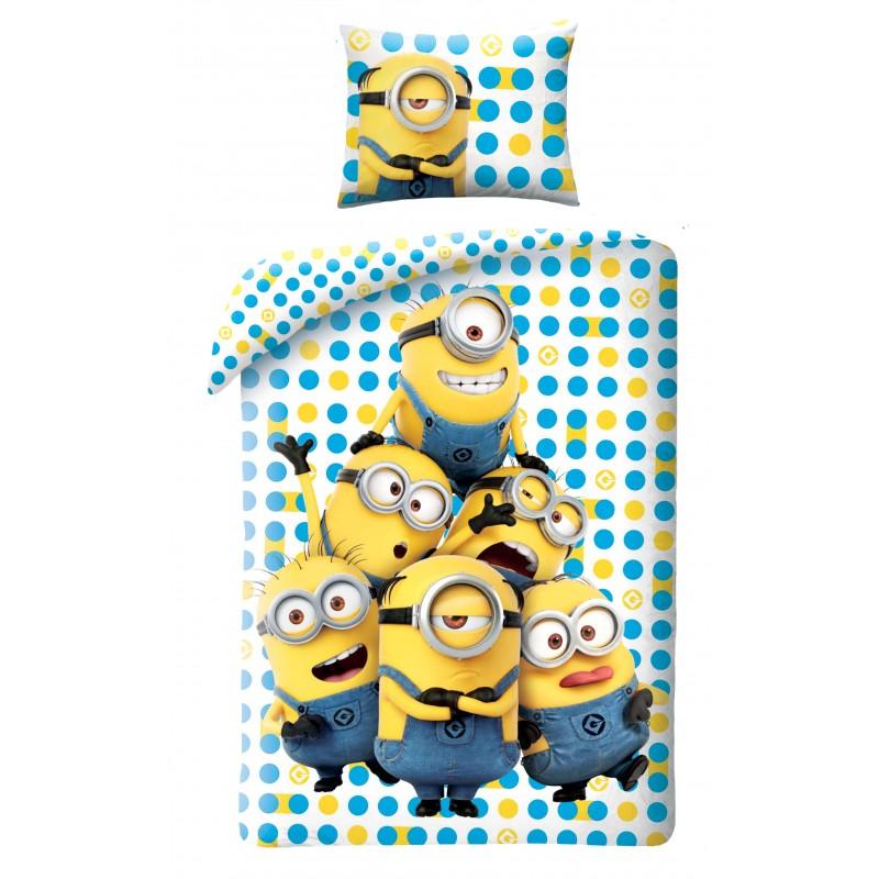 Lenjerie de pat copii Cotton Minions UDM152BL