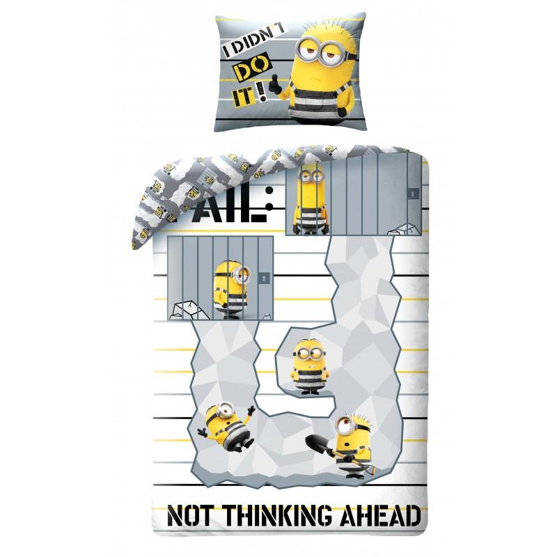 Lenjerie de pat copii Cotton Minions UDM196BL