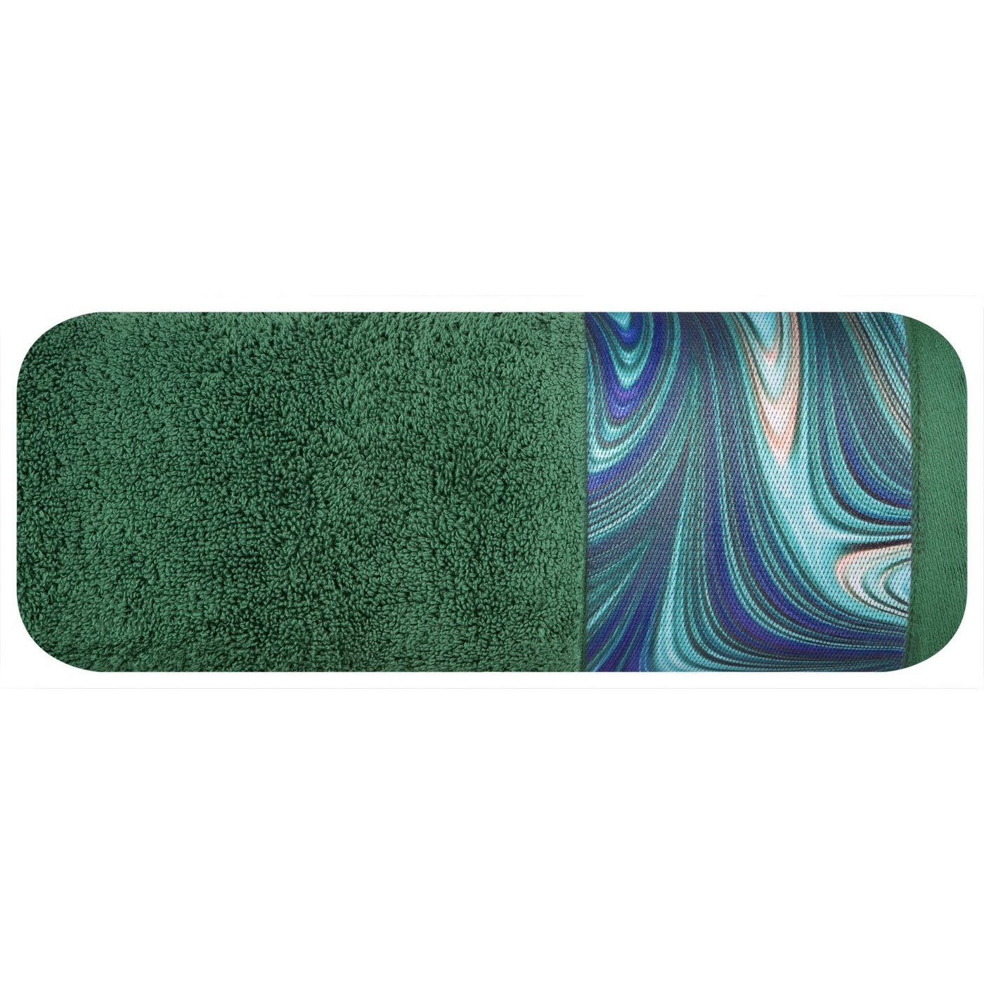 Prosop baie din bumbac Altai Eva Minge Verde inchis, 70 x 140 cm poza