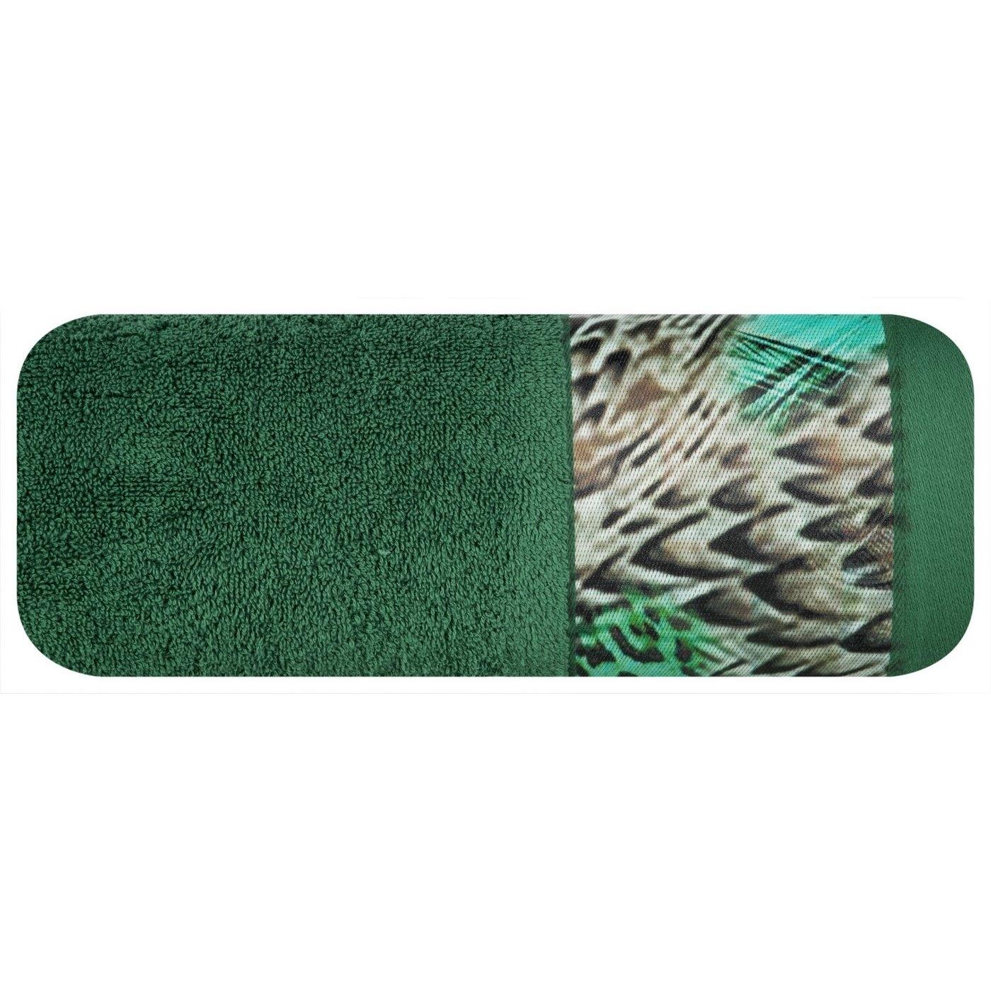 Prosop baie din bumbac Amparo Eva Minge Verde inchis, 70 x 140 cm