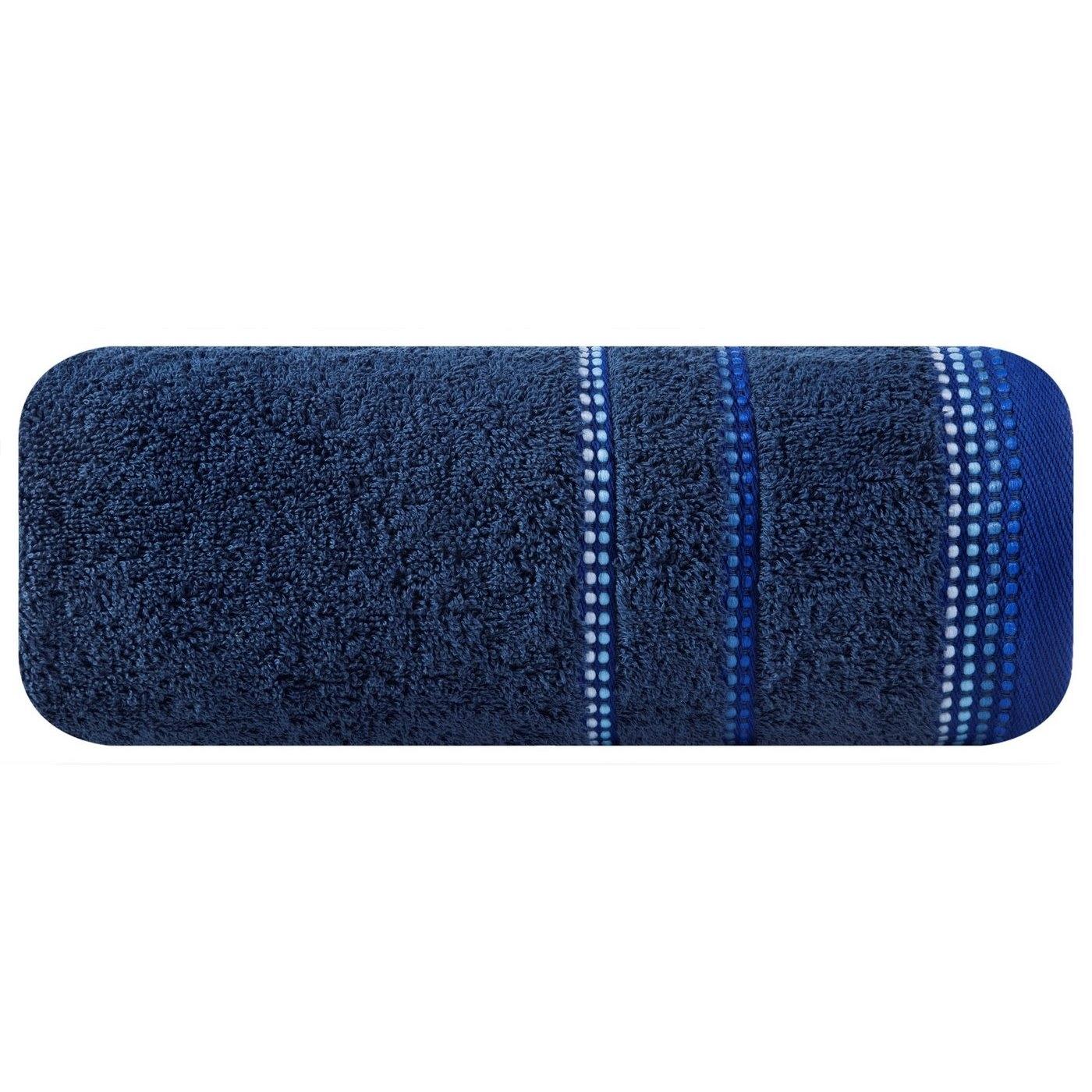 Prosop baie din bumbac Kora Albastru inchis, 50 x 90 cm